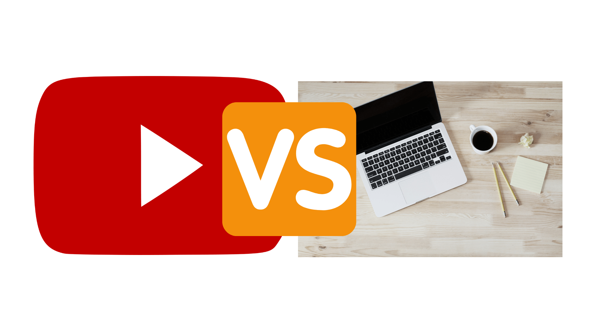 Comparison blogs vs youtube between reading articles online vs watching videos on YouTube