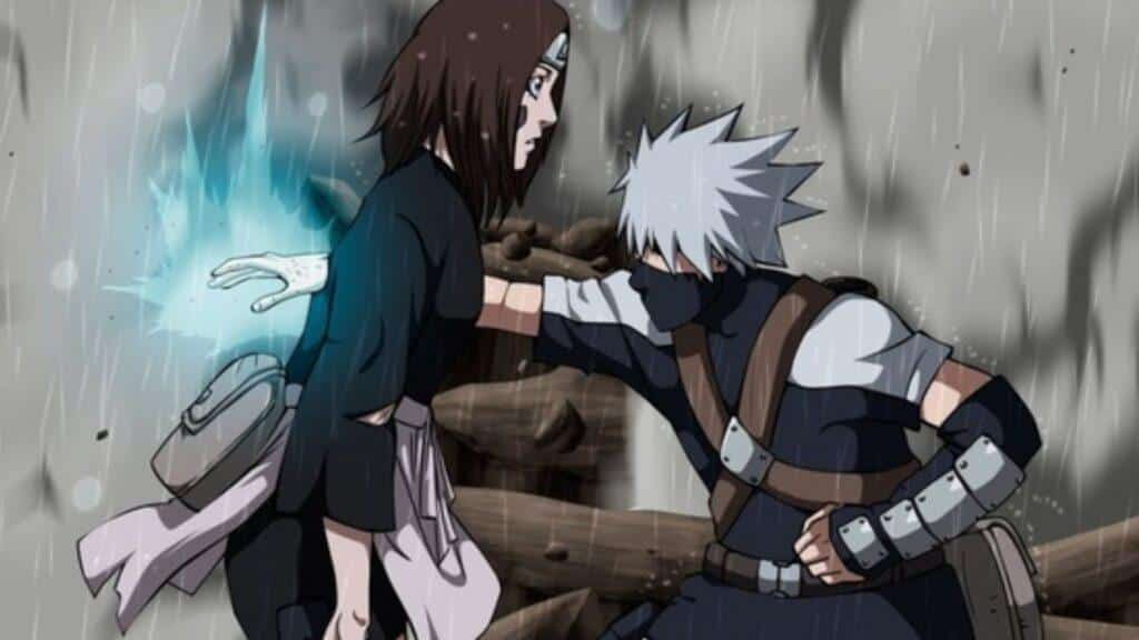 Rin Is Dying at the hands of Kakashi